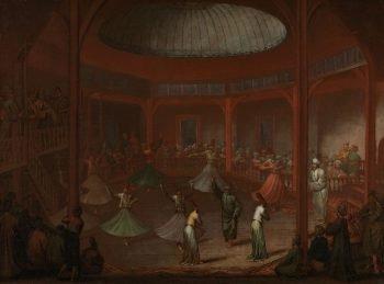 Dansende derwisjen, Jean Baptiste Vanmour, ca. 1720 – ca. 1737