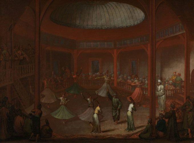 Dansende derwisjen, Jean Baptiste Vanmour, ca. 1720 - ca. 1737