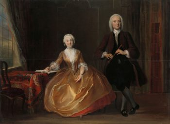 Musicerend paar, Cornelis Troost, 1743