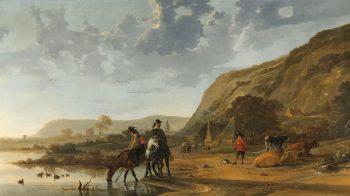 Rivierlandschap met ruiters, Aelbert Cuyp, 1653 – 1657