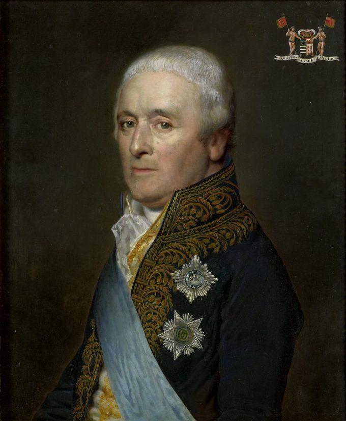 Adriaen Pieter Twent (1745-1816), graaf van Rosenburg. Minister van Waterstaat, minister van Binnenlandse Zaken, kamerheer van koning Lodewijk Napoleon, Willem Bartel van der Kooi, 1809