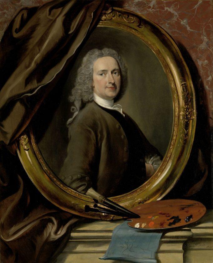 Zelfportret, Cornelis Troost, 1739