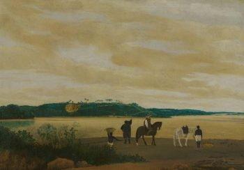 Gezicht op het eiland Itamaracá, Brazilië, Frans Jansz. Post, 1637