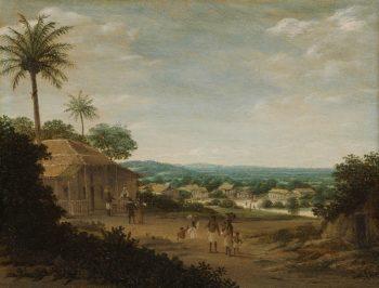 Braziliaans dorp, Frans Jansz. Post, 1675 – 1680