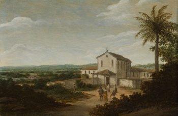 Kerkelijk gebouw in Brazilië, Frans Jansz. Post, 1675 – 1680