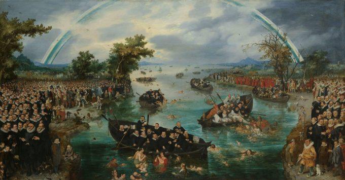De zielenvisserij, Adriaen Pieterszoon van de Venne, 1614