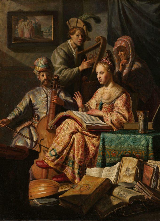 Musicerend gezelschap, Rembrandt van Rijn, 1626