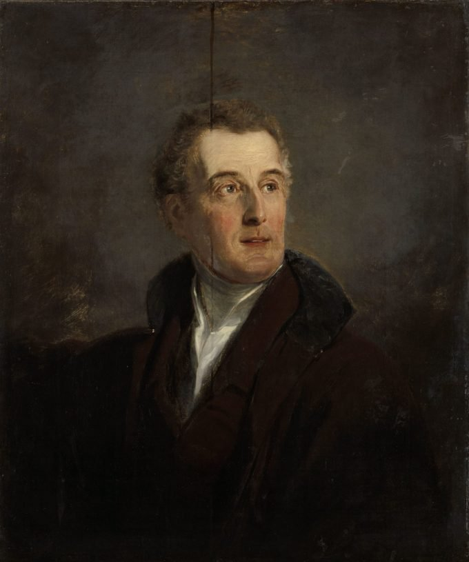Portretstudie van Arthur Wellesley, hertog van Wellington, Jan Willem Pieneman, 1821