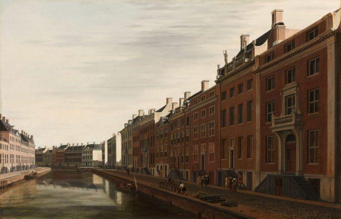 De Gouden Bocht in de Herengracht in Amsterdam vanuit het westen, Gerrit Adriaensz. Berckheyde, 1672