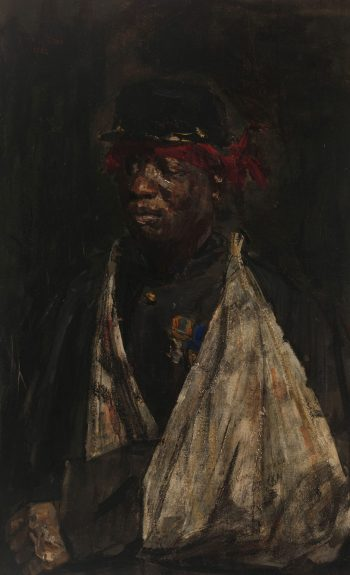 Portret van een gewonde KNIL-militair, Isaac Israels, 1882