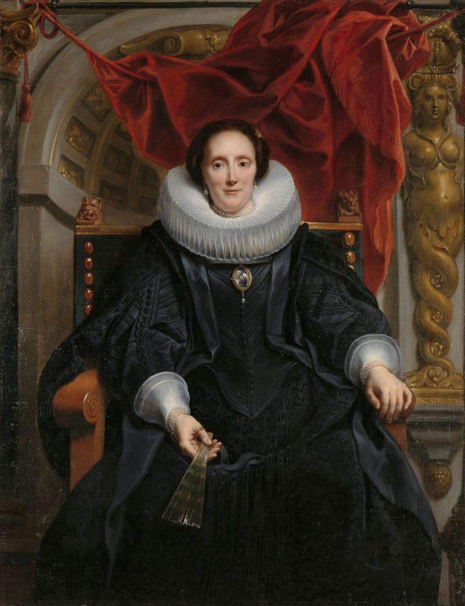 Portret van Catharina Behaghel, Jacob Jordaens (I), 1635