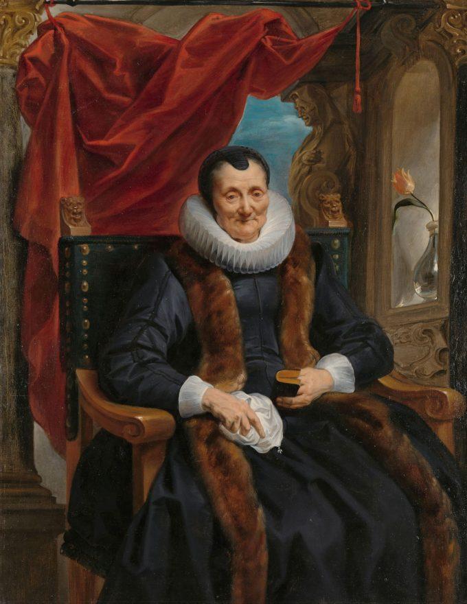 Portret van Magdalena de Cuyper, Jacob Jordaens (I), ca. 1635 - ca. 1636