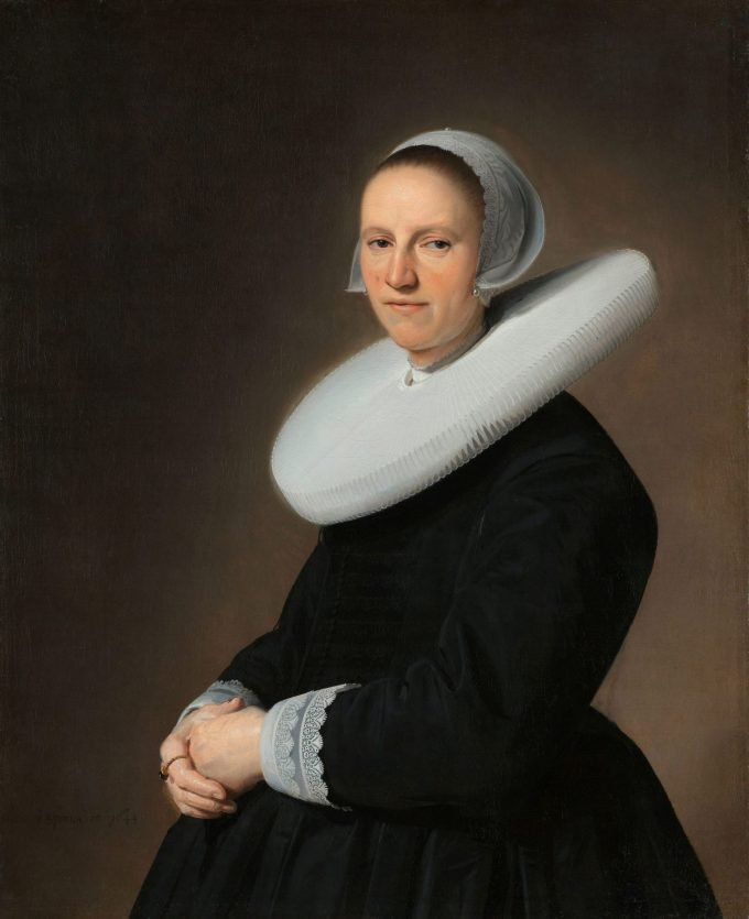 Portret van Adriana Croes, Johannes Cornelisz. Verspronck, 1644