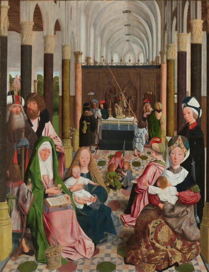 De heilige maagschap, Geertgen tot Sint Jans (atelier van), ca. 1495