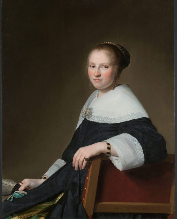 Portret van Maria van Strijp, Johannes Cornelisz. Verspronck, 1652