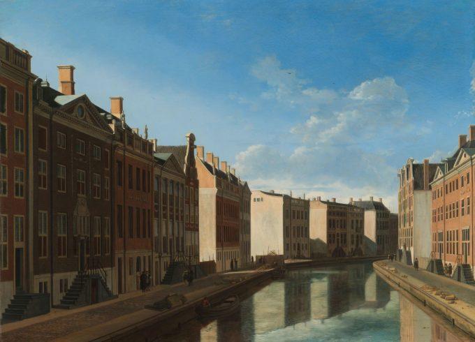 Gezicht op de Gouden Bocht in de Herengracht, Gerrit Adriaensz. Berckheyde, 1671 - 1672