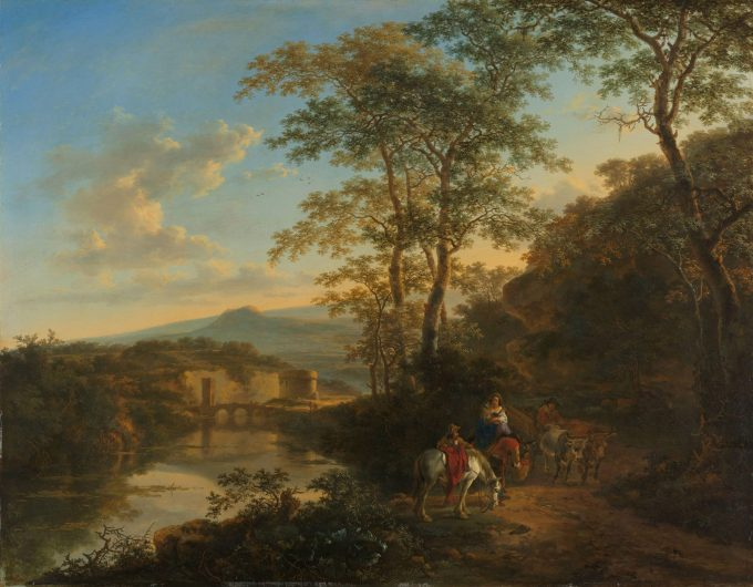 Italiaans landschap met de Ponte Molle, Jan Both, 1640 - 1652