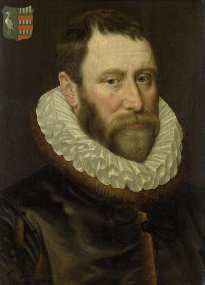 Portret van Jacob Bas Claesz (1536-1589), Adriaen Thomasz. Key, 1586