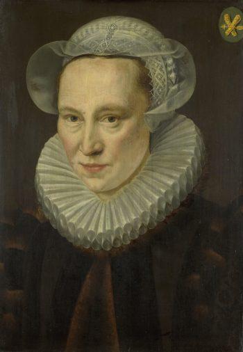 Portret van Grietje Pietersdr Codde (gestorven 1607), Adriaen Thomasz. Key, 1586