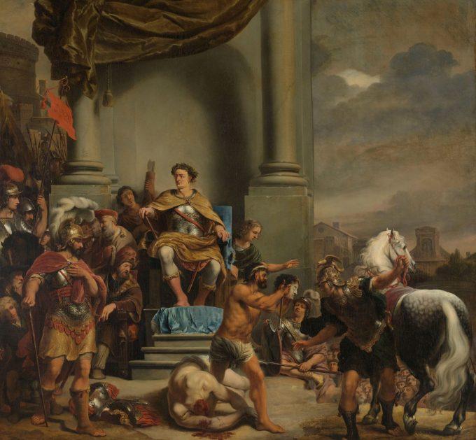 Consul Titus Manlius Torquatus laat zijn zoon onthoofden, Ferdinand Bol, 1661 - 1664