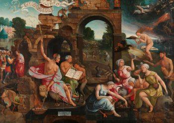 Saul bij de heks van Endor, Jacob Cornelisz. van Oostsanen, 1526