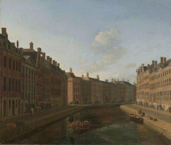Gezicht op de Gouden Bocht in de Herengracht vanuit het oosten, Gerrit Adriaensz. Berckheyde, 1685