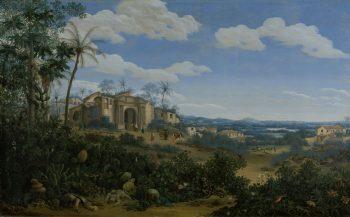 Gezicht op Olinda, Brazilië, Frans Jansz. Post, 1662