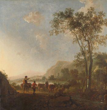 Landschap met herders en vee, Aelbert Cuyp, 1650 – 1660