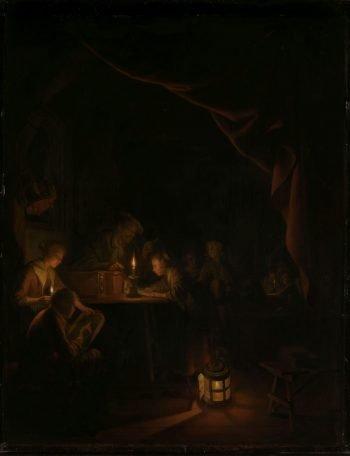 De avondschool, Gerard Dou, ca. 1660 – ca. 1665