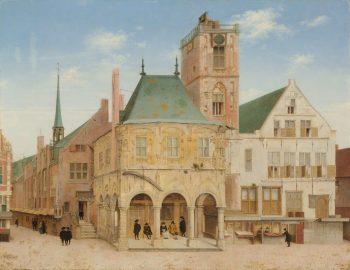 Het oude stadhuis in Amsterdam, Pieter Jansz. Saenredam, 1657
