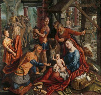 De aanbidding van de koningen, Pieter Aertsen, ca. 1560