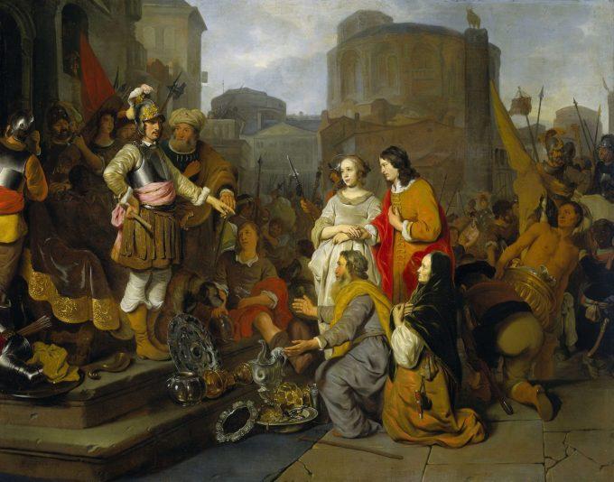 De grootmoedigheid van Scipio, Gerbrand van den Eeckhout, ca. 1650 - ca. 1655