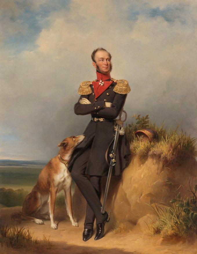Portret van Willem II, Koning der Nederlanden, Jan Adam Kruseman, 1839