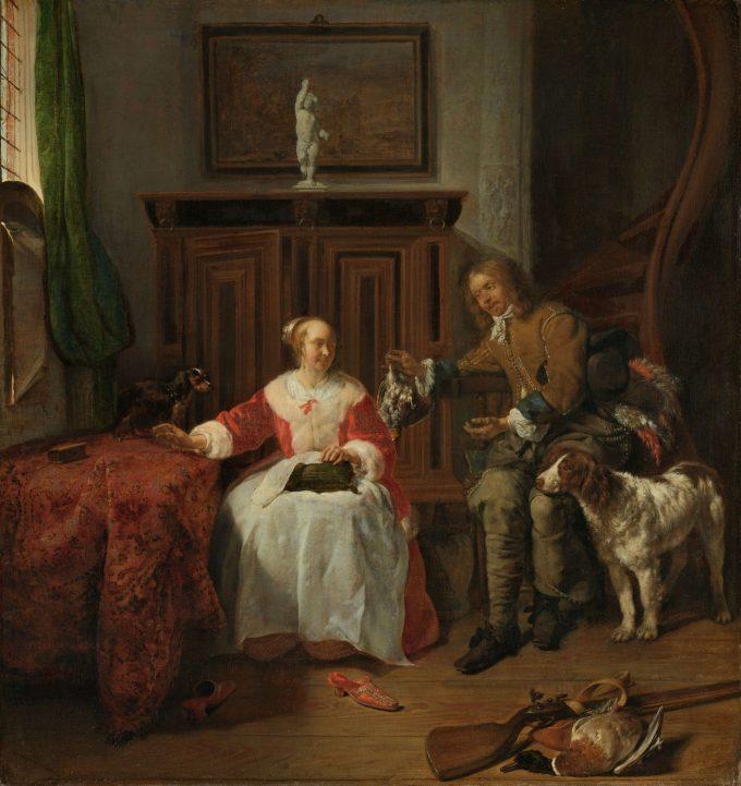 De jagersbuit, Gabriël Metsu, ca. 1658 - ca. 1661