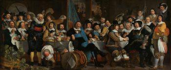 Schuttersmaaltijd ter viering van de Vrede van Munster, Bartholomeus van der Helst, 1648