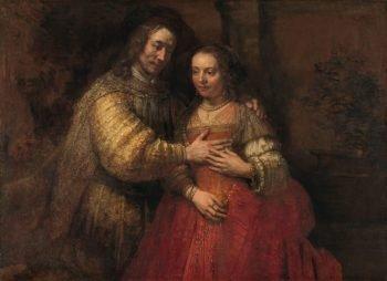 Isaak en Rebekka, bekend als 'Het Joodse bruidje', Rembrandt van Rijn, ca. 1665 – ca. 1669