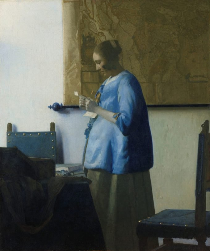 Brieflezende vrouw, Johannes Vermeer, ca. 1663