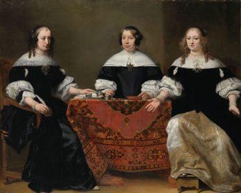 Portretten van drie regentessen van het leprozenhuis in Amsterdam, Ferdinand Bol, ca. 1668