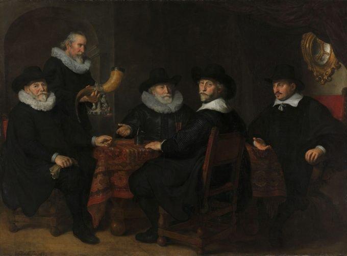 Vier doelheren der Kloveniersdoelen, Amsterdam, 1642, Govert Flinck, 1642