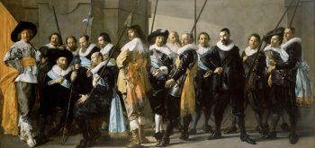 Schutters van wijk XI onder leiding van kapitein Reynier Reael, bekend als 'De magere compagnie', Frans Hals, Pieter Codde, 1637