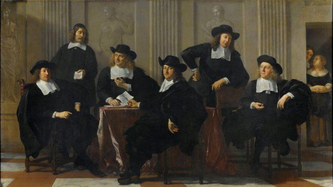 De regenten van het Spinhuis en Nieuwe Werkhuis te Amsterdam, Karel du Jardin, 1669