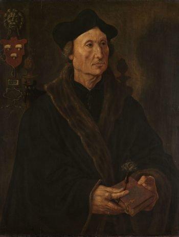 Portret van Johannes Colmannus (1471-1538), Maarten van Heemskerck, ca. 1538 – ca. 1540