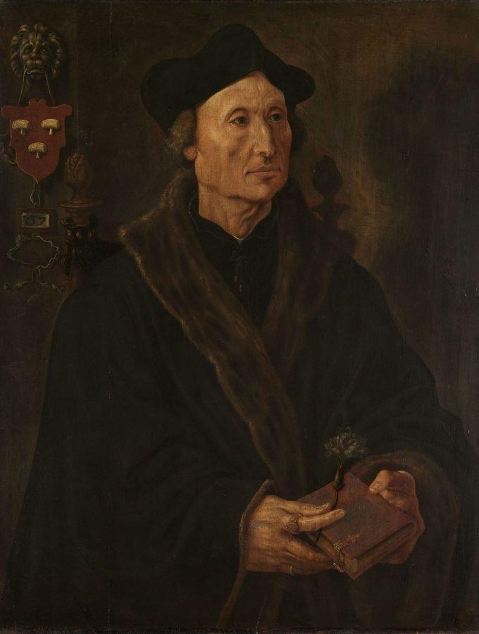 Portret van Johannes Colmannus (1471-1538), Maarten van Heemskerck, ca. 1538 - ca. 1540