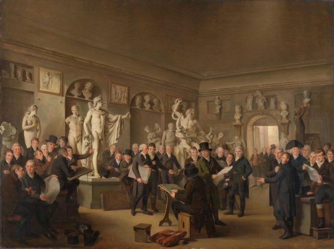 De beeldenzaal van de Maatschappij Felix Meritis, Adriaan de Lelie, 1806 - 1809