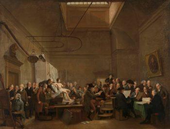De tekenzaal van de Maatschappij Felix Meritis, Adriaan de Lelie, 1801