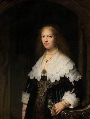 Portret van een vrouw, mogelijk Maria Trip, Rembrandt van Rijn, 1639