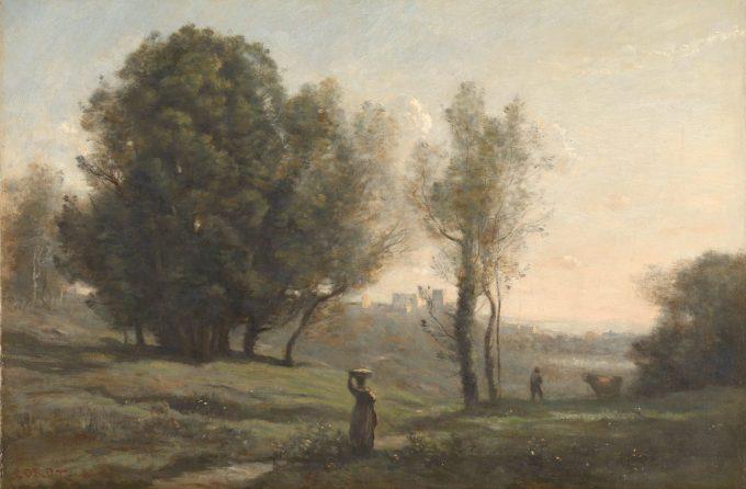 Landschap, Camille Corot, ca. 1872