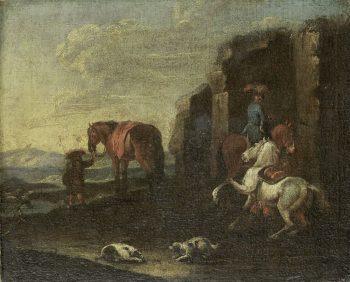 Italiaans landschap, Pieter van Bloemen (toegeschreven aan), 1700 – 1720