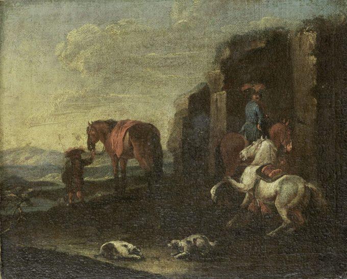 Italiaans landschap, Pieter van Bloemen (toegeschreven aan), 1700 - 1720
