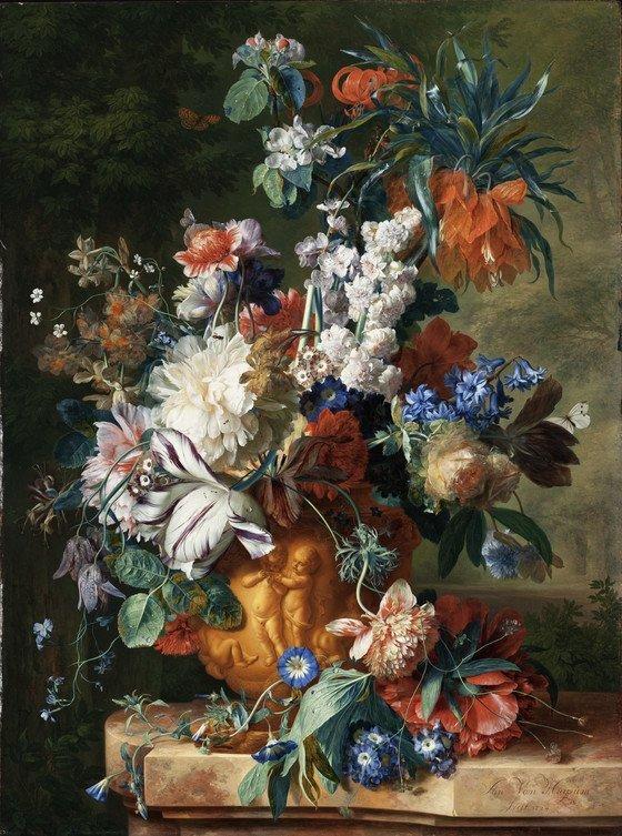Stilleven met bloemen, Jan van Huysum, 1723
